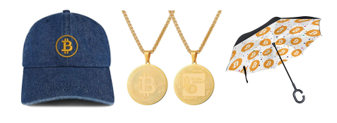 Bitcoin hat umbrella jewelry